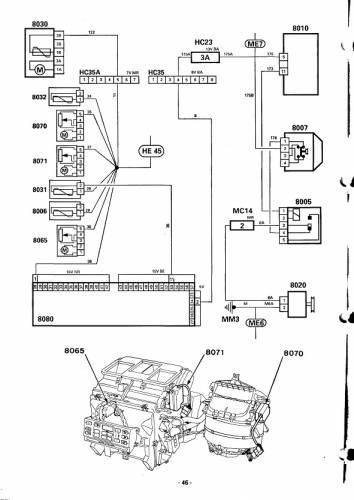 Peugeot 605 Электросхемы и